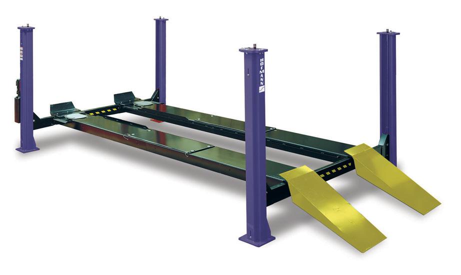 Four Post Vehicle Lift : Alignment lifts k post hofmann automotive wheel