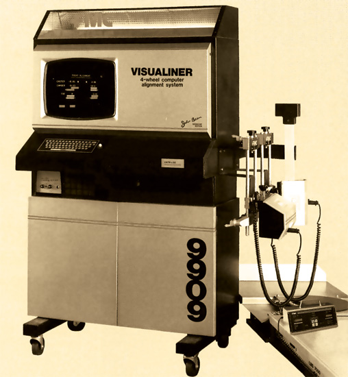 beam visualiner alignment machine